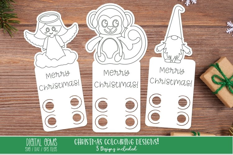 Christmas colouring in, crayon cards, cut and draw designs.
