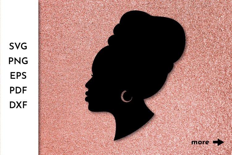 Black Woman SVG Afro Girl SVG Black Girl Afro American