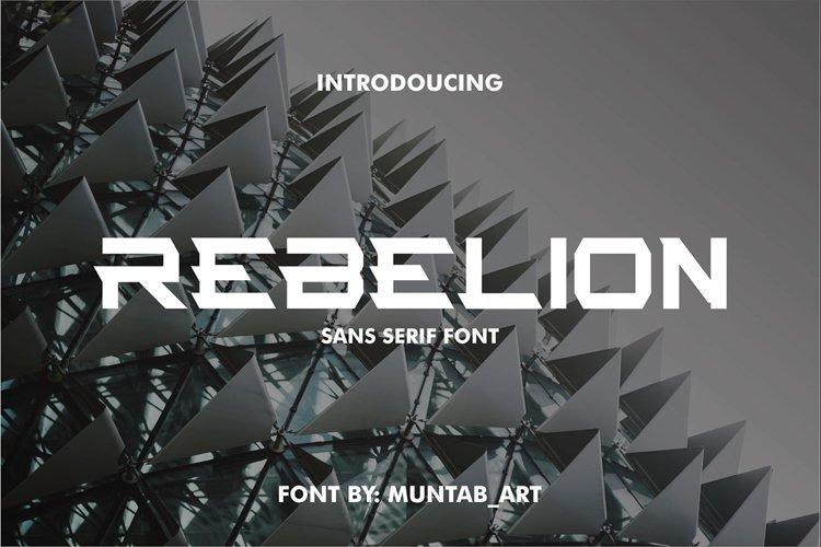 Rebelion | Modern Font example image 1