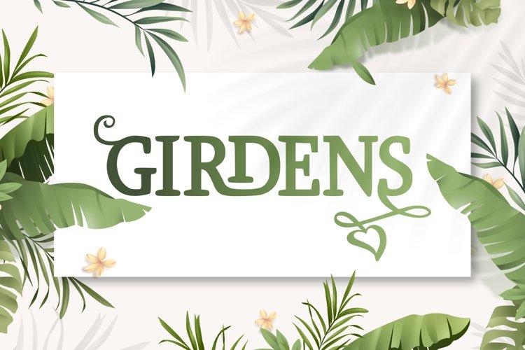Girdens - Decorative Serif Font example image 1