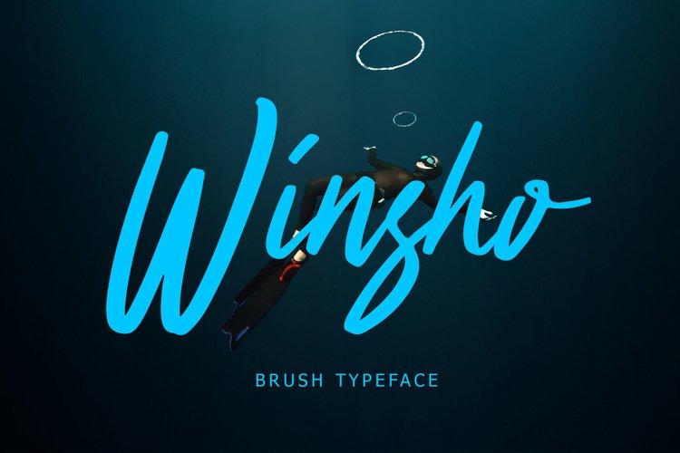 Winsho Brush Typeface Winsho Brush Typeface Winsho Brush Typ example image 1