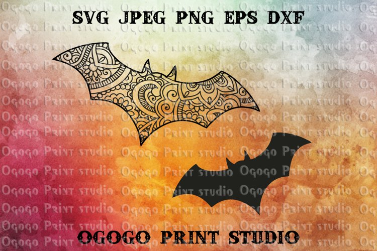 Bat SVG, Zentangle SVG, Batman SVG, Halloween svg, Mandala
