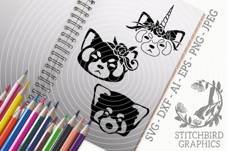 Red Panda 2 Bundle SVG, Silhouette Studio, Cricut, Eps, JPEG example image 1