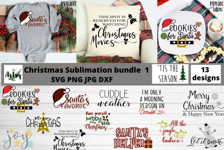Christmas sublimation bundle, Christmas quotes svg bundle