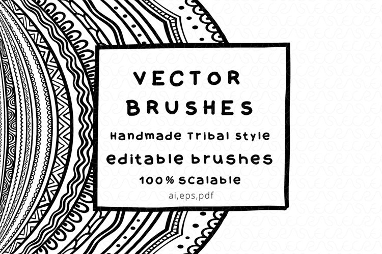 Vector Brushes - Handmade Tribal Style Graphics