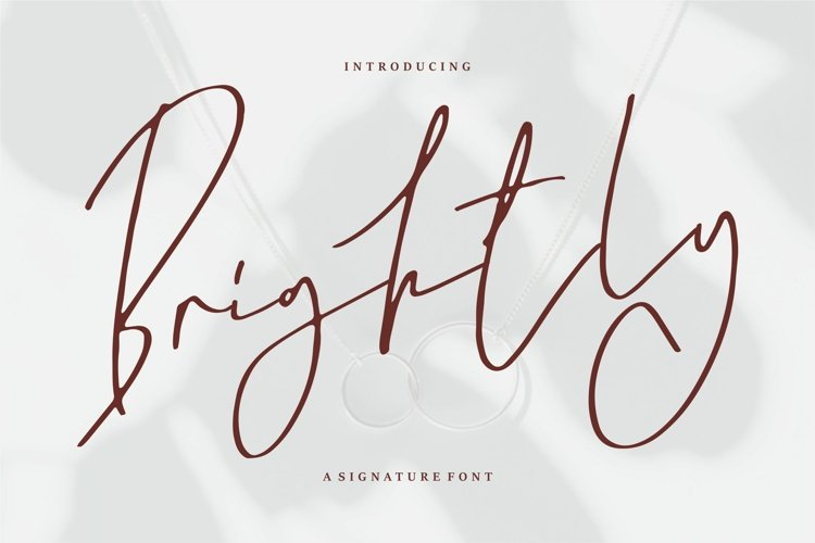 Brightly - A Signature Font example image 1