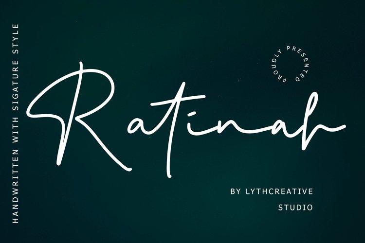 Ratinah Signature Font example image 1