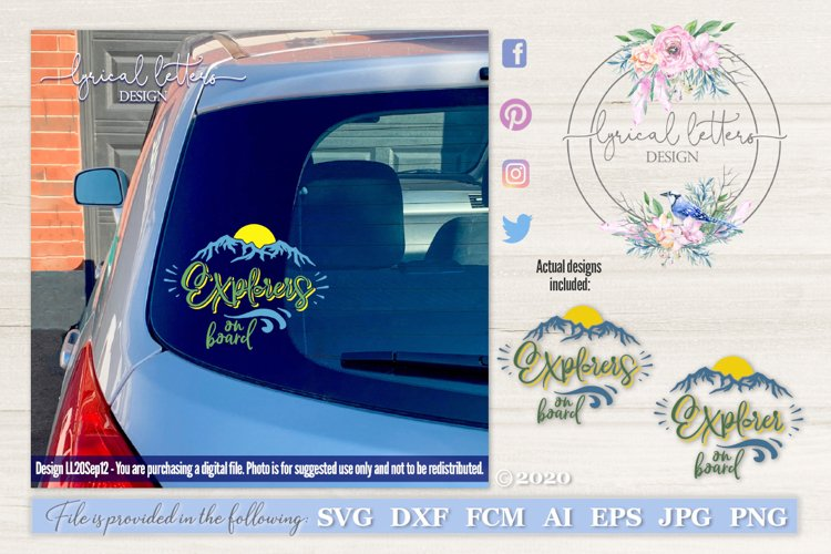 Explorers Explorer On Board Car Decal SVG Cut File LL20Sep12