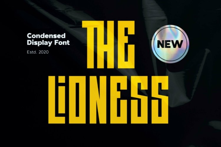 Web Font The Lioness - Condensed Display Font example image 1