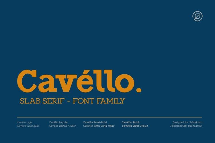 Cavello Slab Serif example image 1