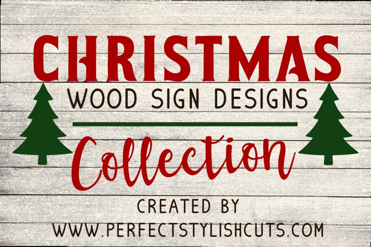 Christmas Wood Sign Designs Collection - Christmas SVG Files