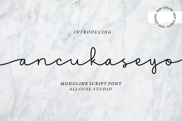 Web Font - Ancukaseyo - Monoline Script Font example image 1