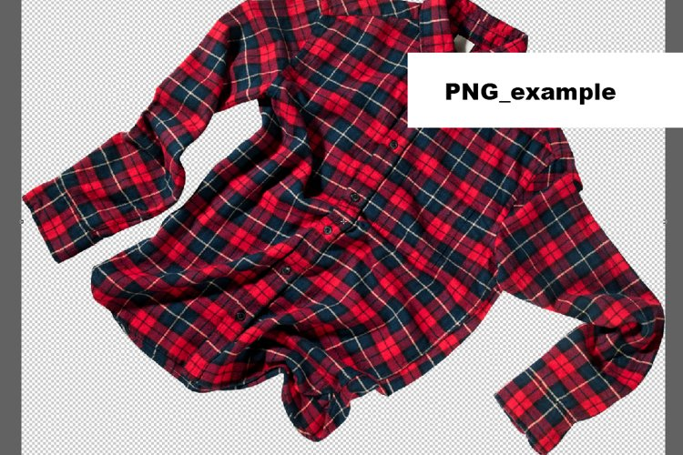 Christmas check red shirts isolated on white Element Object example 3