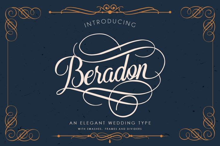 Beradon Script - Elegant Wedding font - Free Font of The Week Font