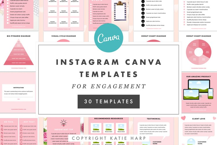 Instagram Canva Templates for Engagement - Blush Pink example image 1