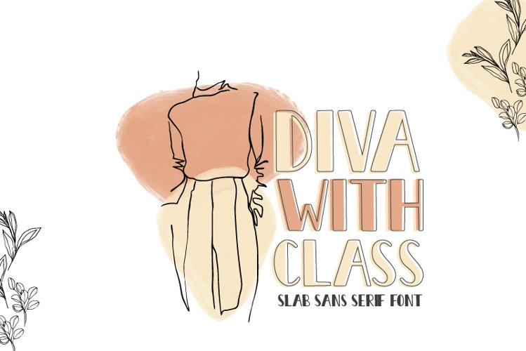 Diva With Class Bold Font example image 1