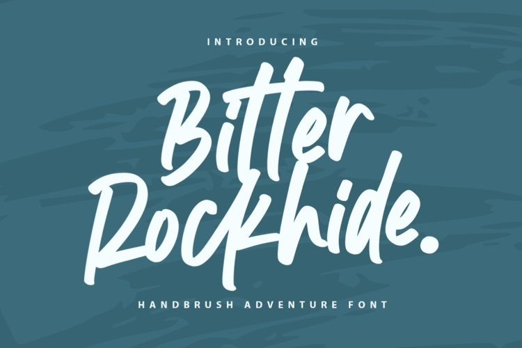 Bitter Rockhide - Handbrush Font example image 1