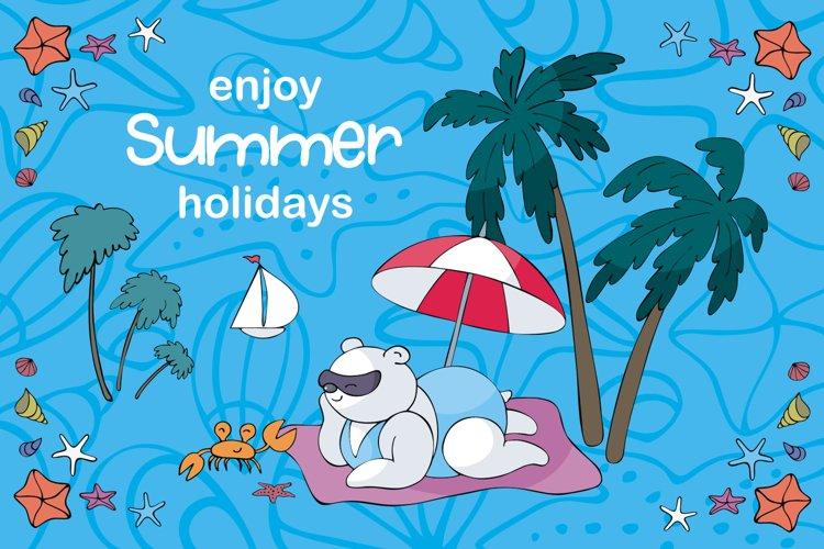 Sun and Fun Summer Beach Doodles Clipart Set example 6