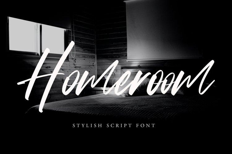 Homeroom - Stylish Script Font example image 1