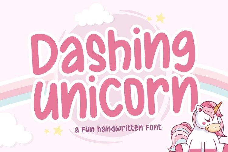Dashing Unicorn Fun Handwritten Font example image 1