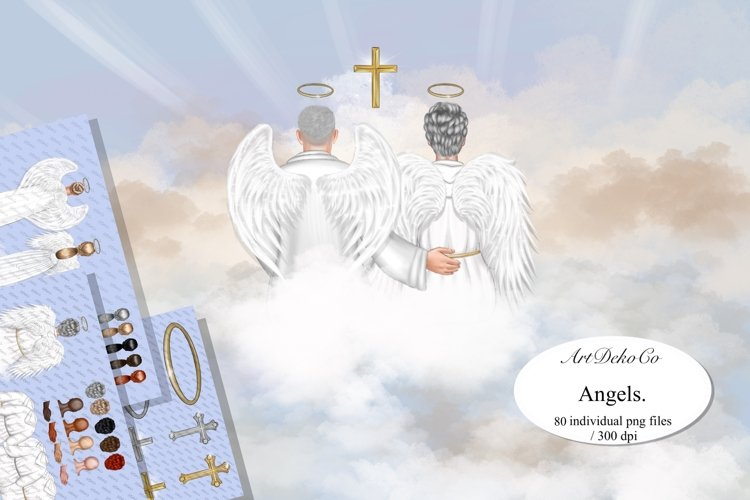 After Life Clip Art, Angel Wings Clipart, Memorial.
