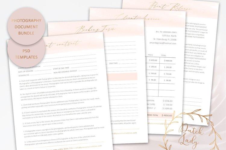 PSD Photography Document & Form Template Bundle #1