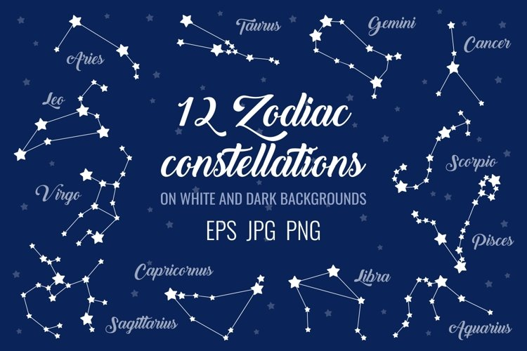 12 zodiac signs constellations example image 1