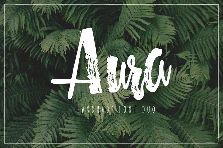 Aura handmade font duo example image 1