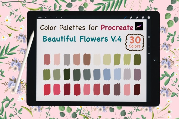 Color Palettes set for Procreate - Beautiful Flower V.4 example image 1