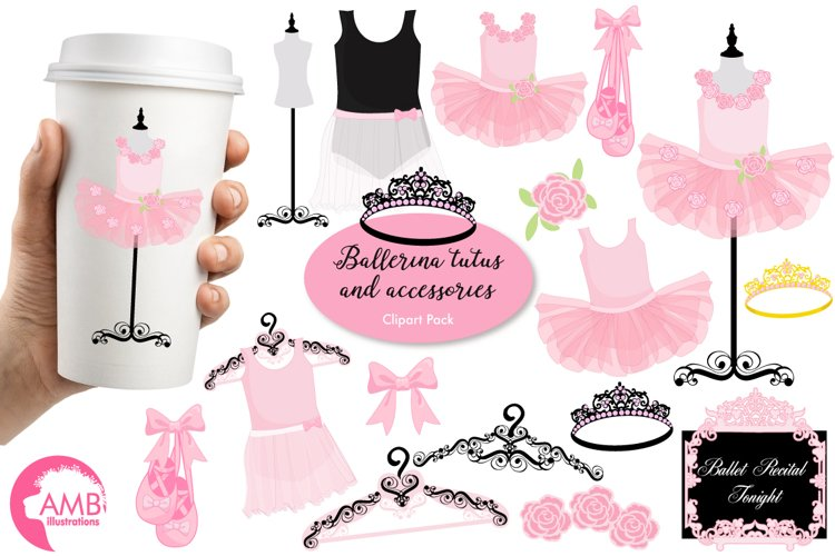 Ballerina Tutus clipart, graphics and illustrations AMB-1308 example image 1