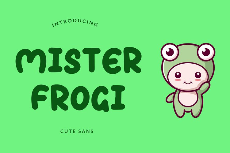 Mister Frogi Display Font example image 1