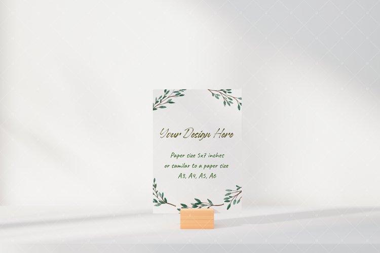 Postcard Greeting Card Mockup example image 1