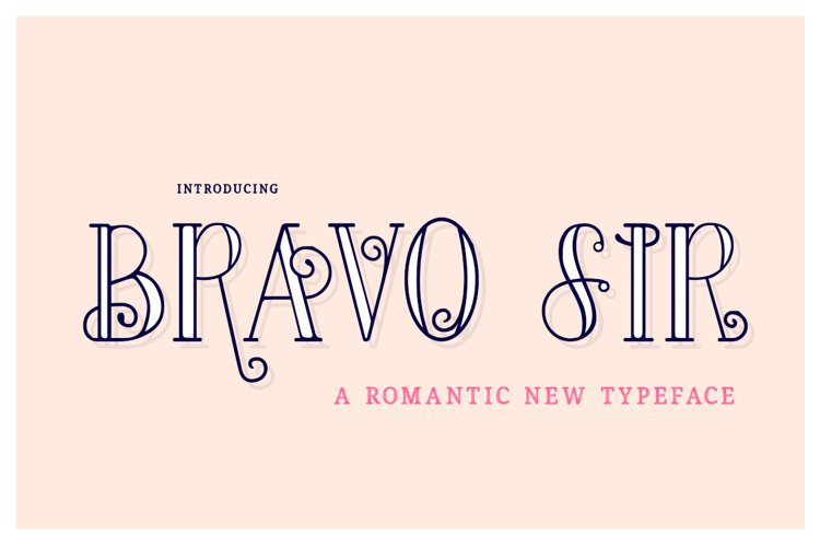 Bravo Sir Font Family example image 1