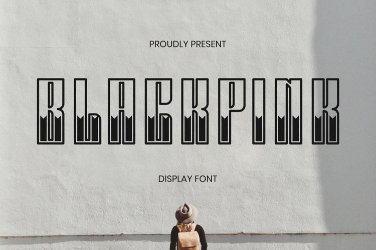 Web Font BLACKPINK Font example image 1