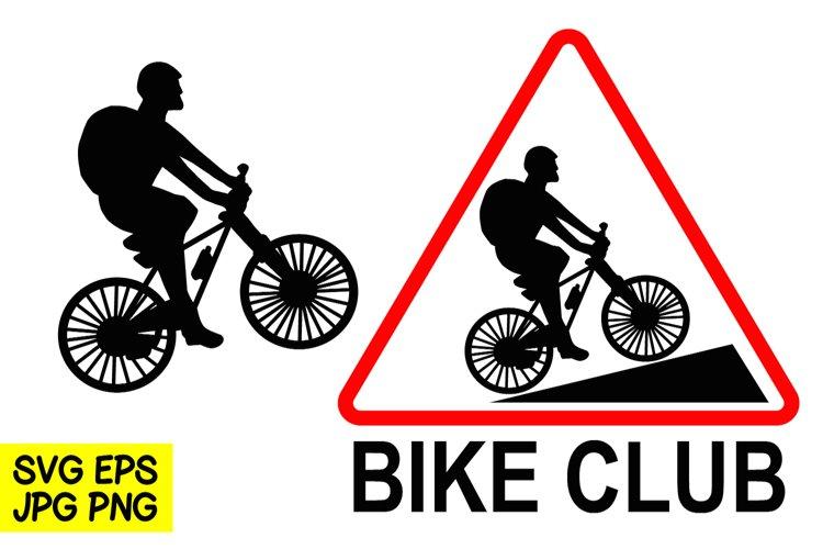 Bike Club- SVG/EPS/JPG/PNG Hand Drawing example image 1