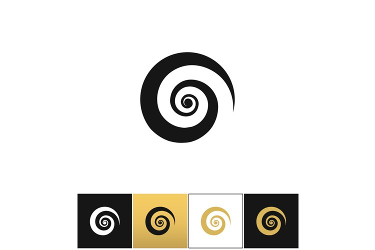 Spiral icon vector example image 1