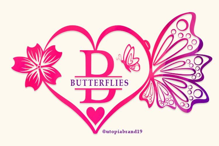 Butterflies Monogram example image 1