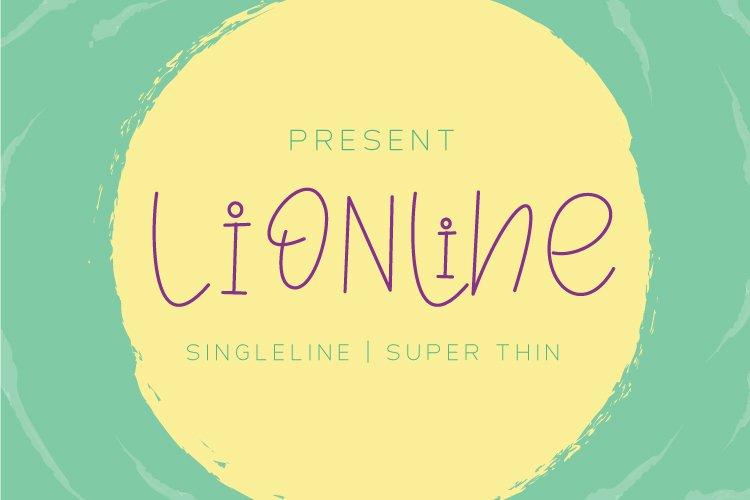 Lionline Super Thin - Single Line Font