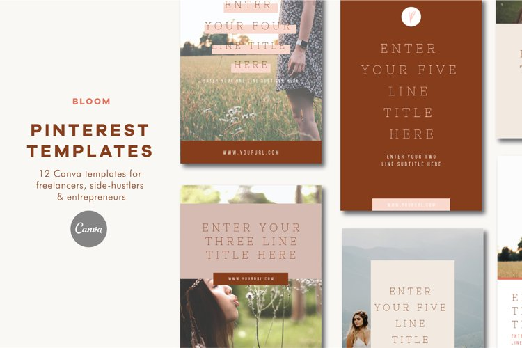 Pinterest Templates  Canva   Bloom example image 1