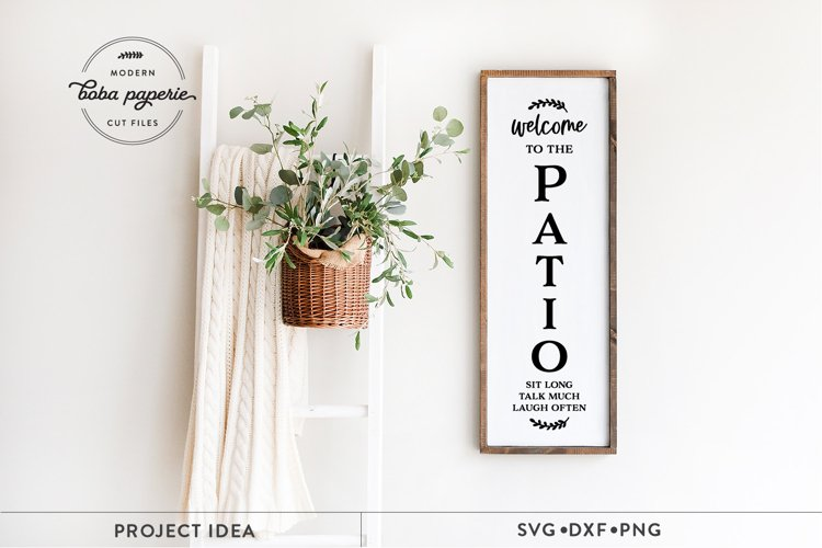 Welcome to The Patio SVG, Vertical Patio Sign svg