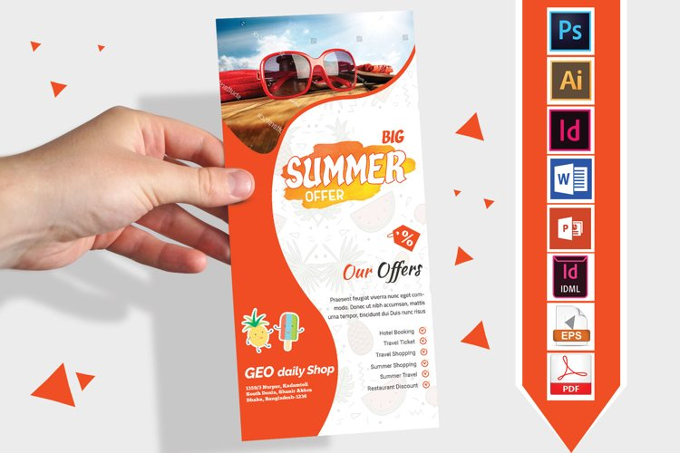 Rack Card | Summer Sale DL Flyer Vol-03 example image 1