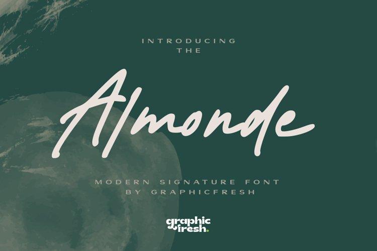 Almonde - Modern Signature Font example image 1