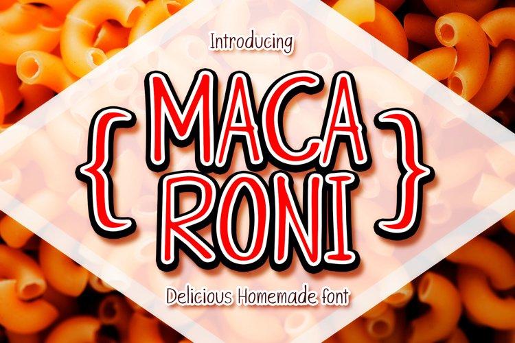 Macaroni handwritten font example image 1