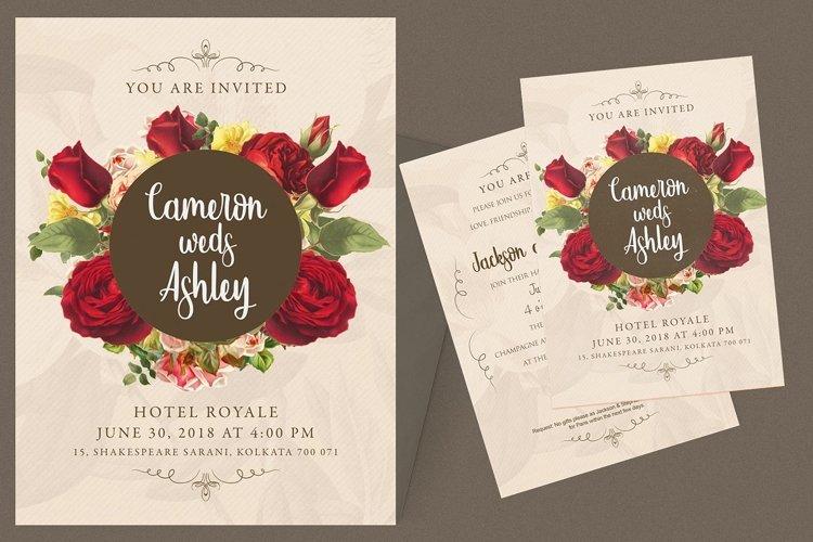 Floral Wedding Invitation Card example image 1