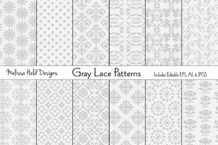Gray Lace Patterns