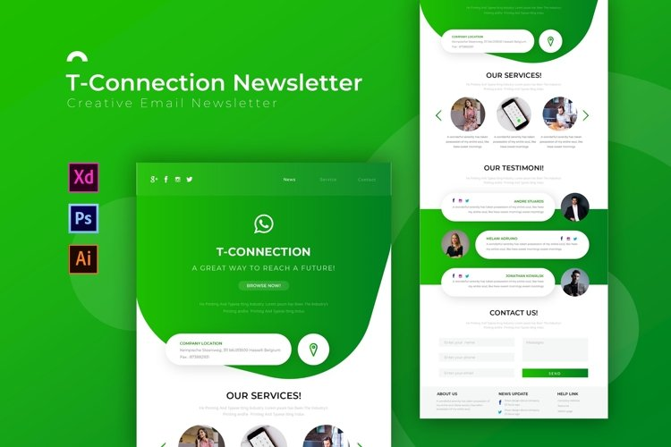 Tconnection | Email Newsletter Template example image 1