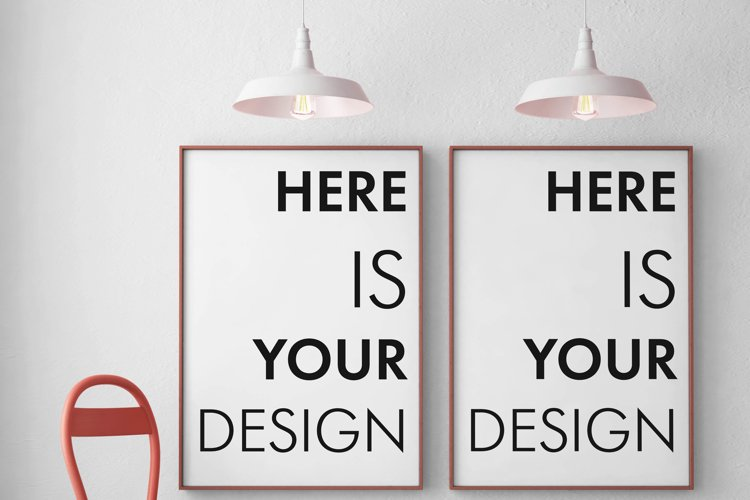 3 mockups posters in the interior