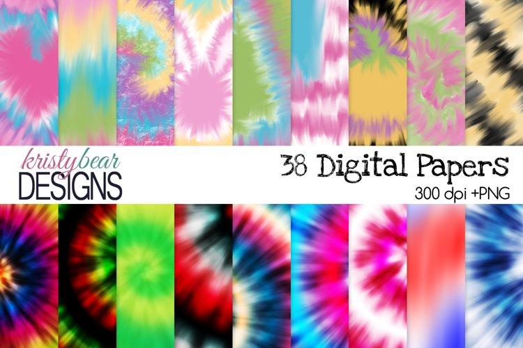 Tie Dye Digital Paper - Tie Dye Pattern - Free Design of The Week