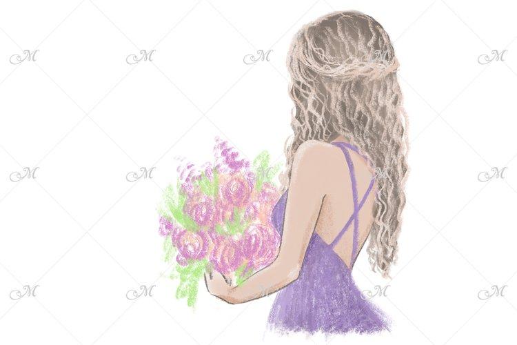 Flower Girl, Hand Drawn Illustration example image 1