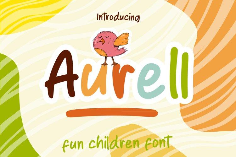 WEB FONT| Aurell Fun Font
